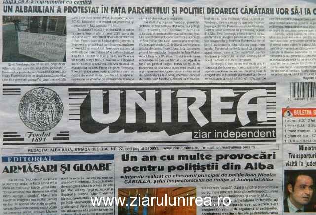 Ziarul Mesagerul de Alba – Știri din județul Alba