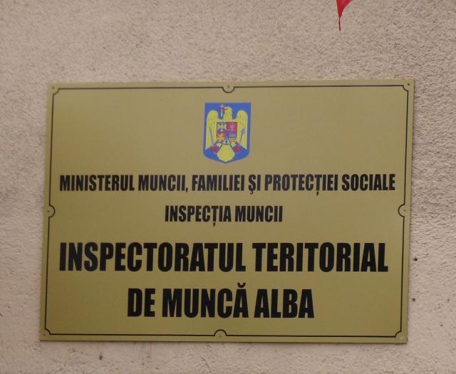 AMENZI în valoare de 29.500 de lei, din care 20.000 de lei pentru muncă nedeclarată aplicate de inspectorii ITM Alba, în perioada 10-14 decembrie 2018