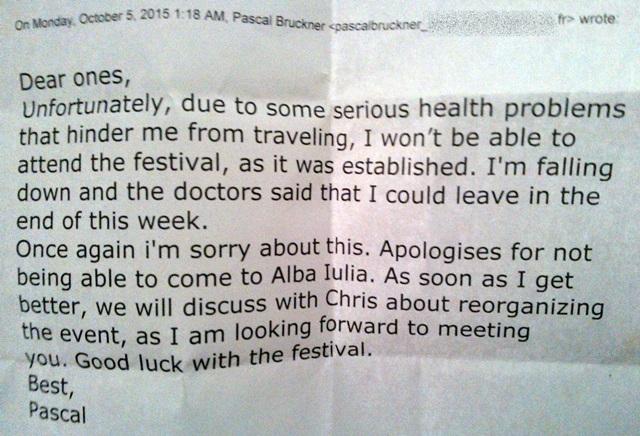 scrisoare Pascal Bruckner