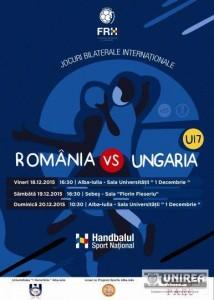 Romania - Ungaria handbal masculin Alba Iulia 1