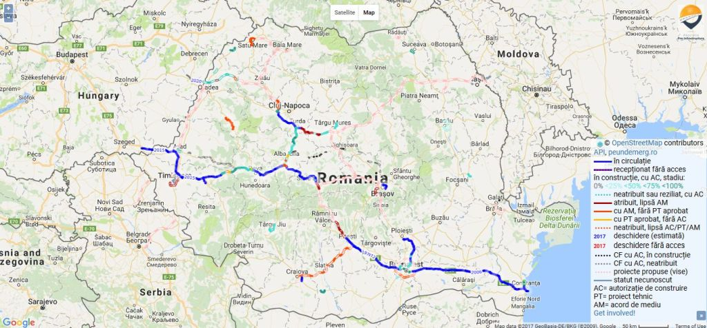 Hartă Interactivă Cu Toate Proiectele Majore De Infrastructură