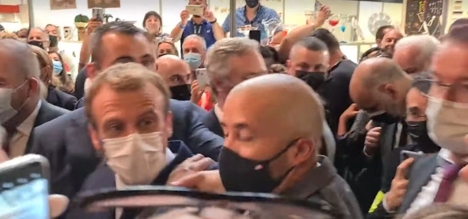 VIDEO  Președintele Franței, ATACAT a doua oară, în mijlocul unei mulțimi. A fost lovit cu un ou aruncat de un cetățean